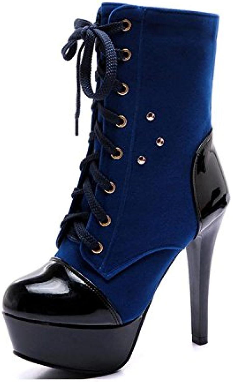 XUEXZIX Stivali da Donna Martin con Tacco Alto Impermeabile Martin Stivali da Uomo con Cinturino Anteriore con...   Qualità Primacy    Scolaro/Ragazze Scarpa