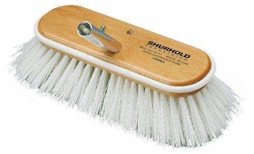 Shurhold 990 10 Deck Brush with Extra Stiff White Polypropylene Bristles by Shurhold Shurhold 10
