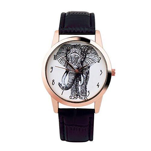 Nuevo reloj de cuarzo de moda Relojes con estampado de elefantes Relojes...