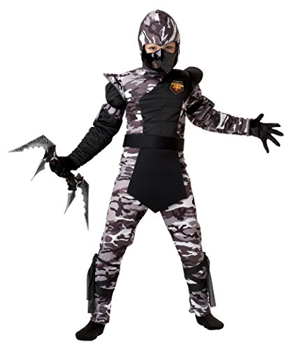 Arctic Forces Camo Ninja Costume Child Small 6-8