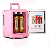 Shower Auto Kühlschrank 6L Mini-Kühlschrank Car-Home-Dual-Use-Kühlhaus Heizung und Kühlung Kühlschrank,Pink