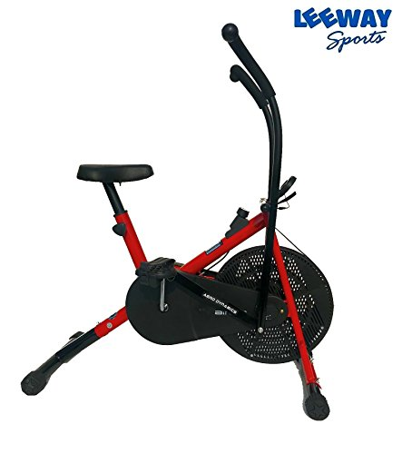 Leeway Air Bike Exercise Cycle| Moving Handle Gym bike For Home Use| Deluxe Design of Fitness| Lifeline for Cardio Work Out| Weight Loss Equipment| Exercise Stamina Bike| Dual Action Cycle- RED  available at amazon for Rs.6389