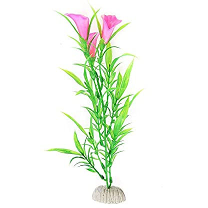 Suberde Artificial Water Grass Morning Glory Fish Tank Aquarium Plastic Ornament Plant 2