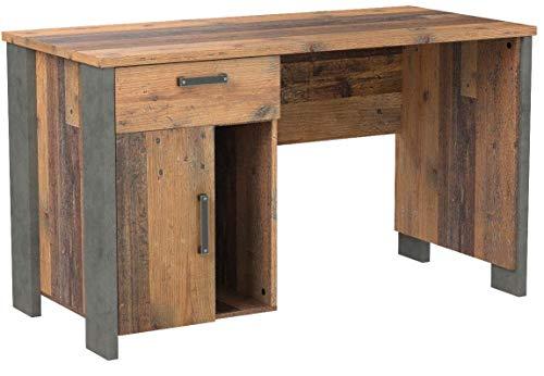 Wohnorama Schreibtisch Clif von Forte Old-Wood Vintage/Beton by
