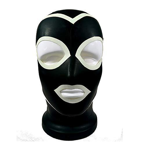 100% Latex handgemachte Maske sexy Kopfhaube Gummi Cosplay Kostüm Maske (XL 60CM)