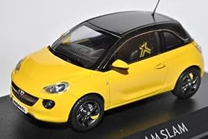 Opel Adam 3 Türer Gelb mit Schwarz Ab 2012 1/43 Motorart Modell Auto