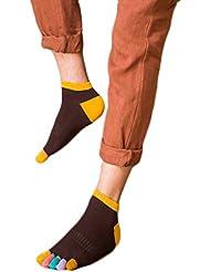 QHGstore 1 Paar Herren Socken Non Slip Multicolor Fünf Zehen aus Baumwolle Socken