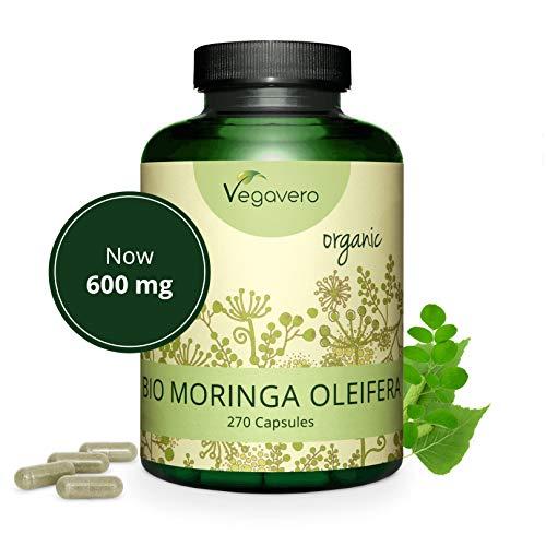MORINGA-Oleifera-BIO-Vegavero-600-mg-270-capsule-Fonte-naturale-di-proteine-vitamine-e-minerali-Vegan
