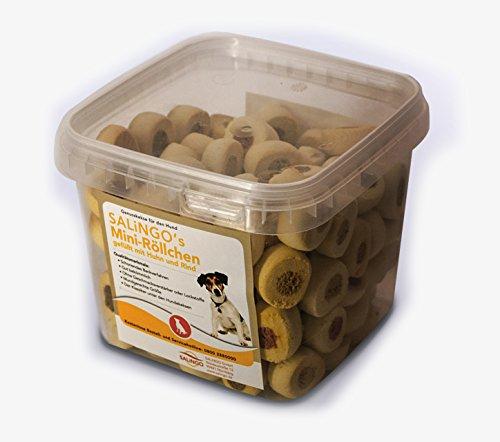 SALiNGO Hundekeks Miniröllchen mit Huhn und Rind, 500g