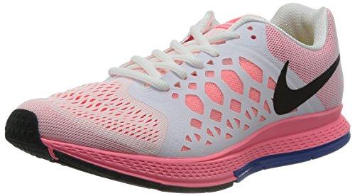 Nike Air Zoom Pegasus 31, Herren Sportschuhe, Weiß (White/blck-hypr pnch-hypr cblt), 45.5 (Für Schuhe Weniger Nike)