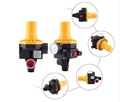 enoche 220 V Controlador de presión Bomba de Agua Regulador de presión para electrobomba presscontrol presostato domestica con Gauge casa Accesorio