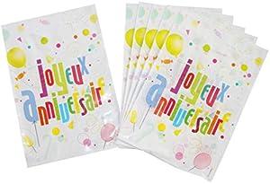 DYNASTRIB JA Fun - Bolsas para caramelos (6 unidades, 23 x 15 cm), multicolor