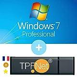 MS Windows 7 Pro 32/64 Bits - Clé de Licence Originale avec Clé USB de Démarrage de - TPFNet