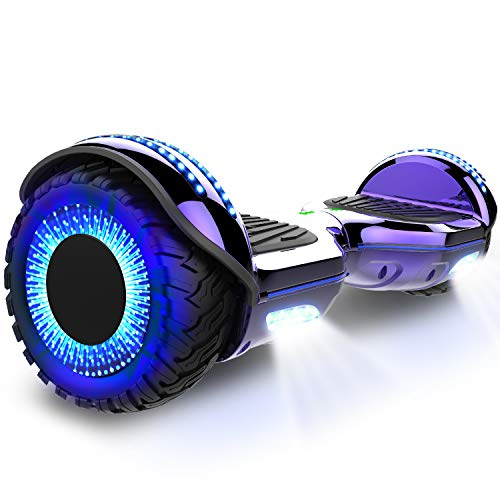 COLORWAY Hoverboard 6.5 Zoll Self Elektro Balance Scooter 2 x 350W E-Skateboard mit LED Lights (Lila)