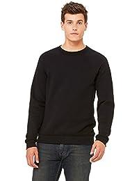Bella+Canvas Rib Sponge Fleece Pullover Sweatshirt, Blk