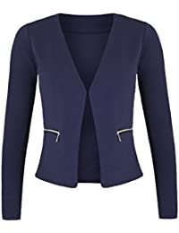 Danaest – blazer para mujer con bolsillos (382)