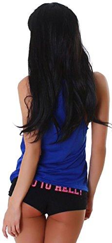 Jela london débardeur pour femme uni & bien coupés Bleu - Bleu