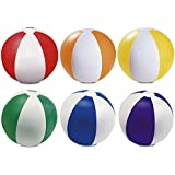 "Pack de 6 color inflable playa pelota 22 cm/9 ""- juego de Pool Beach (mixto)"