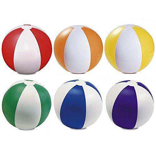 eBuyGB Juego de 6 bolas hinchables para playa, color azul, 22 cm
