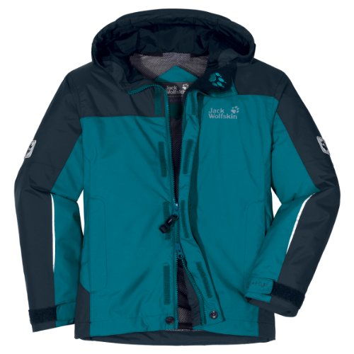 Jack Wolfskin BOYS CLOUD STREAM JACKET - baltic blue - Gr. 116 (Blue Baltic Bekleidung)