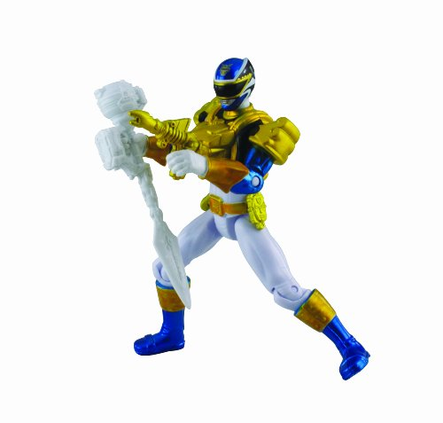 Power Rangers Metallic Force Ultra Blue Ranger Megaforce Action Figur (Megaforce Blau Power Ranger)