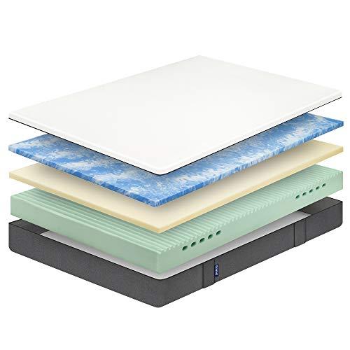 Emma Colchón 105x190 cm - Viscoelástico Premium - Transpirable, Adaptable, Color Blanco (Todas Las Medidas)