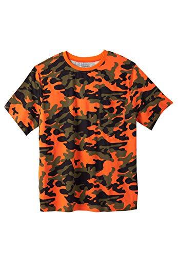 Boulder Creek Herren T-Shirt Big & Tall Heavyweight Rundhalsausschnitt - Orange - Groß-4X-Large (Kleid Big-und Tall-herren-t-shirts)