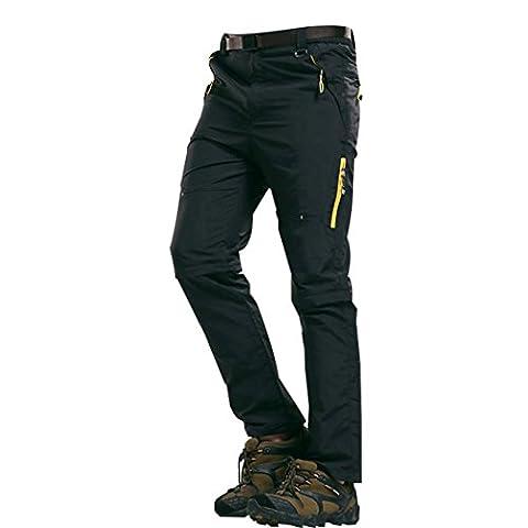 Walk-Leader Pantalon d'extérieur convertible pour homme Escalade, randonnée Séchage rapide - noir - XX-Large