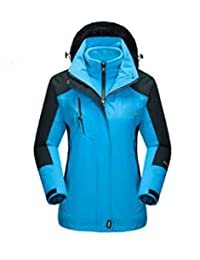 d87cd1c08f1f Winter Outdoors Damen Jacken Wasserdicht Winddicht Dreifach Jacken  Zweiteilige Outdoor-Bergsteigen