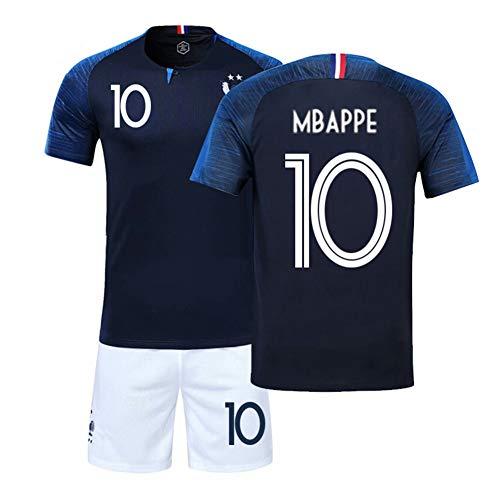 SIBEI Camiseta de Local y visitante Francesa de la FFF, Camiseta del Equipo de fútbol francés,...