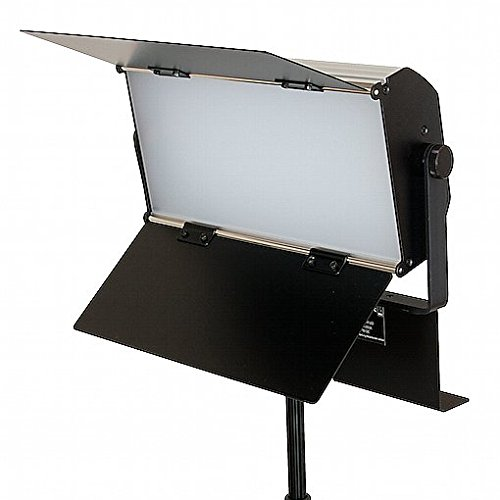 FotoQuantum FQVL-1100B/1100B LED Dimmbare Studio-Flachenleuchte (Dimmbare Farbtemperatur 3000-5500k) + Lampenstativ 2.6m + ColorQuantum Vinyl-Hintergrund Weiss 2x6m (Aluminiumkern) mit komplettem Hintergrundsystem und Metallkette
