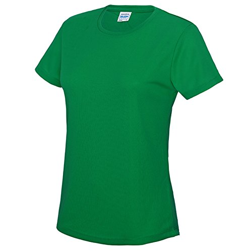 AWDis Damen Modern T-Shirt Gr. S, kelly green (T-shirt Ringer Green Go)