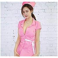 GHJFGJNF Dessous Maid Cosplay Sexy Uniform Krankenschwester Rolle Spielen Anzug Krankenschwester Kostüm Nachtwäsche Erotische Dessous Set_ (Pink)