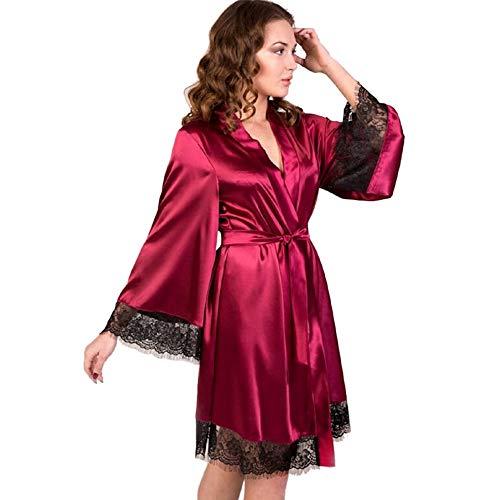 Nachthemd Satin Sexy Dessous Babydoll Kurz Ouvert Nachtwäsche Damen Nachtkleid öffnen Seite Mit Spitze Negligee Träger -