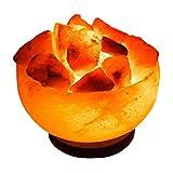 ONEX USB Salzschale Lampe Himalaya Salzkristalllampe Feine Qualität und Premium Salt Lamp für gute Gesundheit