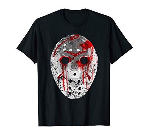 Freitag der 13 Jason blutig Maske T Shirt (Jason's Freundin Kostüm)