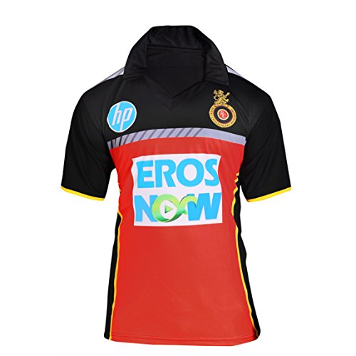 Roots4creation Unisex Polyester RCB IPL JERSEY (Red, Small)