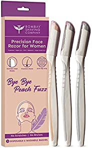Bombay Shaving Company Face Razor For Women | For Easy & Safe Facial Hair Removal (Pack o