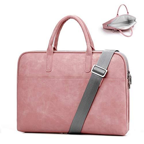 Kenneth Cole Designer-handtasche (Frauen Rosa Leder Laptop Taschen Designer Für Handtaschen wasserdichte Notebooktasche Männer Schwarz Umhängetasche Pink 14.1 Inch)