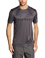 MARMOT Windridge with Graphic Camiseta caballero talla pequeña, Gris, S
