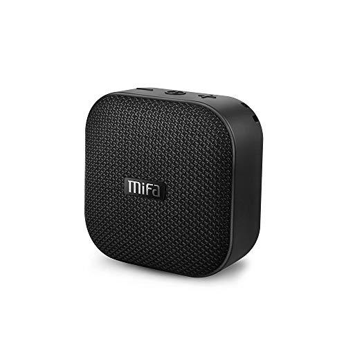 Testsieger 2020 Mini Lautsprecher, MIFA A1 Bluetooth 4.2 Soundbox TWS & DSP IP56 Wasserfest und Staubdicht Speaker, Unterstützt SD-Karte bis zu 32GB Kompatibel mit Huawei iPhone iPad Samsung