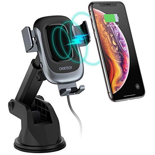 CHOETECH Caricatore Wireless Auto, 15W/ 10W/ 7,5W Bloccaggio Automatico con Ricarica Rapida Wireless Auto Vento Supporto Telefono per iPhone XS/XR/8 Plus, Galaxy S10/S9/S8, LG V30, Huawei P30 PRO