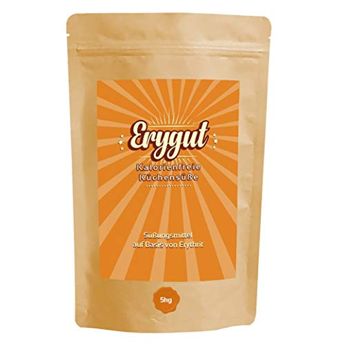 Erygut Basic 5kg / 5000g | Kalorienfreier Zuckerersatz aus Erythrit | Süßungsmittel zum Süßen von Speisen & Getränken, Kochen und Backen | Foodtastic Erythritol Light