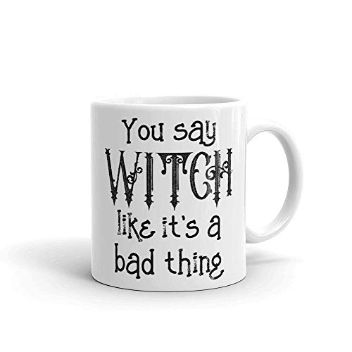Bad Witch Bitches Halloween Mug, Funny Bestie BFF Squad Trick Treat Cup, Girls Coffee Brunch Lunch Party, Perfect Birthday Christmas Present 11 oz Coffee Mug (Specials Lunch Halloween)