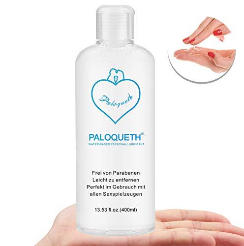 PALOQUETH Gleitgel auf Wasserbasis (400 ML), Hypoallerges Gleitmittel Premium Erlebnisgel gegen Trockenheit für Frauen, Vegan, mit langanhaltender Gleitfähigkeit, neutrales Feuchtmacher