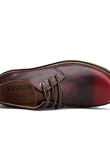 ZQ Scarpe Donna-Stringate-Tempo libero / Casual / Sportivo-Comoda / Scarpe con rotelle-Piatto-Nappa-Marrone / Rosso , brown-us11 / eu43 / uk9 / cn44 , brown-us11 / eu43 / uk9 / cn44 brown-us10.5 / eu42 / uk8.5 / cn43
