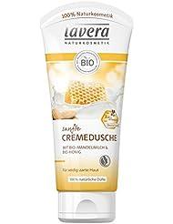 lavera Sanfte Cremedusche Mandelmilch & Honig ∙ Pflegedusche ∙ Bio Pflanzenwirkstoffe ✔ Natural & innovative ✔ Naturkosmetik 1er Pack (1 x 200 ml)