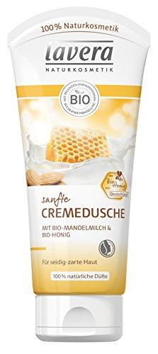 lavera Sanfte Cremedusche Mandelmilch & Honig ∙ Pflegedusche ∙ Bio Pflanzenwirkstoffe ✔ Natural & innovative ✔ Naturkosmetik 1er Pack (1 x 200 ml) -