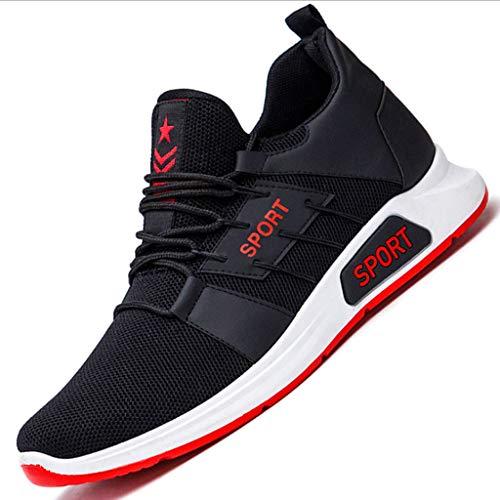 LXJL Herren lässige Sportlaufschuhe, Airtrainer Jogging-Fitness-Dämpfer Gym Sneakers schwarz,a,40