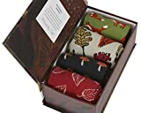 Forest Finds Gift Box by Thought | 4 pairs women's bamboo crew socks